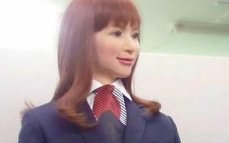 Robot pelayan hotel di Jepang Actroid Android (Telegraph)