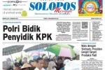 Halaman Depan Harian Umum Solopos edisi Minggu, 1 Februari 2015