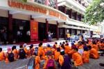 Suasana demonstrasi di UAD (JIBI/Harian Jogja/Bernadheta Dian Saraswati)