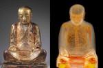 Patung Buddha yang berisi mumi biksu tengah bermeditasi (Dailymail)