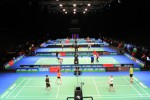 Tim Indonesia uji coba lapangan All England 2015 (Ligaindonesia.co.id)