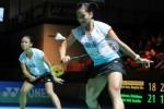 Pasangan ganda putri Della/Rosyita saat bertanding dalam sebuah turnamen. Ist/badmintonindonesia.org