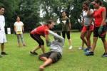 Latihan bela diri wanita di Taman Balekambang, Senin (2/3/2015). (Sunaryo Haryo Bayu/JIBI/Solopos)