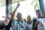 Aksi unjuk rasa pegawai KPK di Jakarta, Selasa (3/3/2015). (Rahmatullah/JIBI/Bisnis)