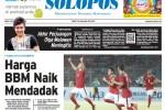Halaman Depan Harian Umum Solopos edisi Sabtu, 28 Maret 2015