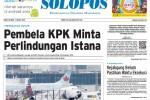 Halaman Depan Harian Umum Solopos edisi Sabtu, 7 Maret 2015