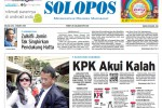 Halaman Depan Harian Umum Solopos edisi Selasa, 3 Maret 2015