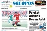 Halaman Depan Harian Umum Solopos edisi Selasa, 31 Maret 2015