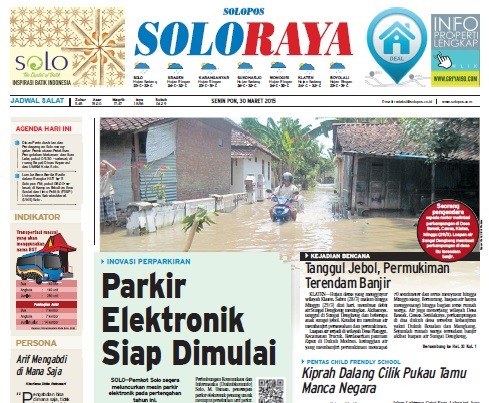 Halaman Soloraya Harian Umum Solopos edisi Senin, 30 Maret 2015