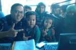 Foto kunjungan para siswa TK Permata Hati di Griya Solopos, Jl. Adisucipto 190, Solo, Jawa Tengah, Selasa (31/3/2015). (Evi Handayani/JIBI/Solopos)