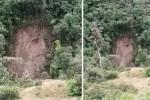 Penampakan wajah Yesus pada tanah longsoran di San Francisco (Mirror.co.uk)