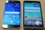 Samsung Galaxy S6 dan LG G3 (Phone Arena)