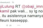 Kicauan #SaveHajiLulung dari RIdwan Kamil (Istimewa/Twitter)