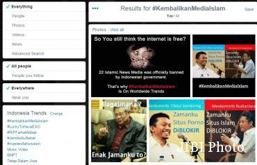 Trending topic #KembalikanMediaIslam (Istimewa/Twitter)