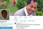 Tubagus Arif di akun Twitternya (Istimewa)