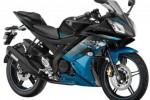 Yamaha R15 warna Streaking Cyan. (Indianautosblog.com)