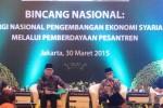 "Bincang Nasional ""Sinergi Nasional Pengembangan Ekonomi Syariah Melalui Pemberdayaan Pesantren"" di Jakarta, Senin (30/3/2015). (JIBI/Solopos/Antara/Akbar Nugroho Gumay)"