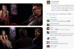 Cinta Laura saat wawancarai bintang film Avengers Age of Ultron (Instagram)