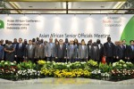Delegasi Asian African Senior Official Meeting (SOM) berfoto bersama di JCC, Minggu (19/4/2015). (JIBI/Solopos/Antara/Yudhi Mahatma)