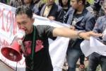 Demonstrasi mahasiswa aktivis HMI di Surabaya, Rabu (1/4/2015). (JIBI/Solopos/Antara/Didik Suhartono)