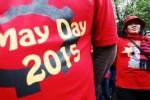 Aksi pra May Day atau Hari Buruh di Tangerang, Senin (27/4/2015). (JIBI/Solopos/Antara/Rivan Awal Lingga)