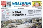 Halaman Depan Harian Umum Solopos edisi Minggu, 26 April 2015