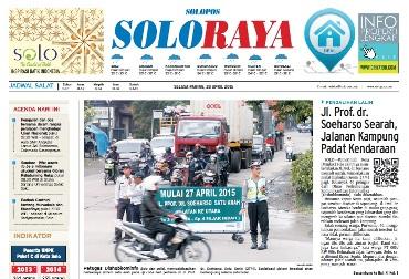 Halaman Soloraya Harian Umum Solopos edisi Selasa, 28 April 2015