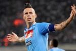 Gelandang Napoli Hamsik sukses menciptakan dua gol ke gawang Wolfsburg. Ist/forzaitalianfootball.com