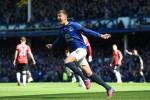 John Stones merayakan golnya ke gawang Manchester United (Twitter/@Everton)