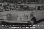 Mercedes Benz 600 tunggangan Presiden Soekarno di KAA 1955. (Youtube.com)