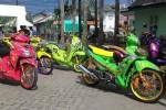 Sepeda motor yang mengikuti HMC 2015 di Banjarmasin. (Detik.com)