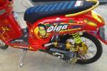 Sisi samping Honda Scoopy RIP Olga Syahputra. (Dapurpacu.com)
