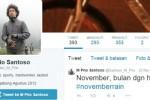Twitter tersangka pembunuh Deudeuh, Rio Santoso (Twitter@Santoso_M_Prio)