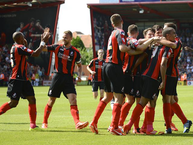 Para pemain Bournemouth merayakan kemenangan mereka dalam sebuah laga. Ist/bouzz.bournemouth.ac.uk