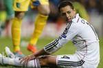 Pemain Real Madrid yang dipinjam dari MU Chiharito Hernandez sampai menangis karena fristrasi. Ist/goal.com