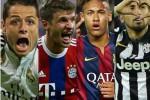 Empat bintang loloskan klub, Concharito Hernandes, Lewandowski, Neymar, dan Thiago. Ist/detiksport
