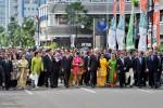 Pimpinan negara-negara Asia-Afrika mengikuti Historical Walk di Jl. Asia Afrika, Bandung Jumat (24/4/2015). (JIBI/Solopos/Antara/Yudhi Mahatma)