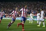 Pemain Atletico Madrid merayakan kemenangan dalam laga lawan Real Madrid. Ist/telegraph.co.uk