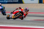 Pembalap Repsol Honda Marc Marquez menggeber motor balapnya di Austin. Ist/detiksport