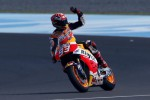 Marc Marquez dikabarkan cedera sehingga terancam gagal ikut balapan di Spanyol. Ist/Rtr