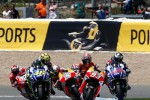 Para pembalap MotoGP bersaing ketat di sirkuit Jerez pada seri 2014 silam. Tahun ini akan kian panas