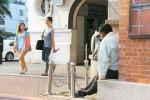 Ah Ji (Kanan) menunggu kekasihnya di sebuah stasiun kereta api (Chinasmack.com)