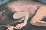 Lukisan yang menggambarkan wujud babi ngepet (Youtube)