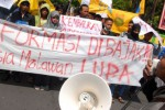 Demo PMII di Jombang mengajak warga menolak lupa, Kamis (21/5/2015). (JIBI/Solopos/Antara/Syaiful Arif).