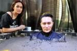 Didampingi Sara Wijayanto, Demian dikubur di semen seberat 50 ton (Liputan6.com)