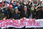 Mahasiswa se-Indonesia menggelar demo Mei 2015 di depan Istana Merdeka, Jakarta, Kamis (21/5/2015). (JIBI/Solopos/Akbar Nugroho Gumay)