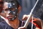 Demo warga Papua di Malang, Selasa (19/5/2015). (JIBI/Solopos/Antara/Ari Bowo Sucipto)