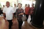 Menteri BUMN Rini M. Soemarno di PG Colomadu, Senin (11/5/2015). (Reza Fitriyanto/JIBI/Solopos)