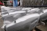 Pembuatan tangki motor di Kampung Losari, Solo, Kamis (14/5/2015). (Ivanovich Aldino/JIBI/Solopos)