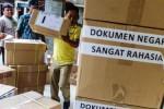 Penyimpanan soal UN SD di Mapolres Tulungagung, Selasa (12/5/2015). (JIBI/Solopos/Antara/Destyan Sujarwoko)